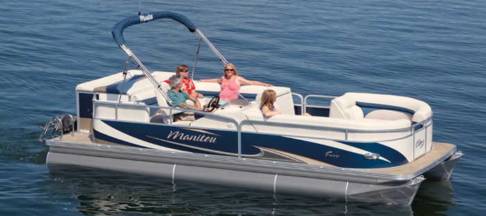 Relaxing on a pontoon boat