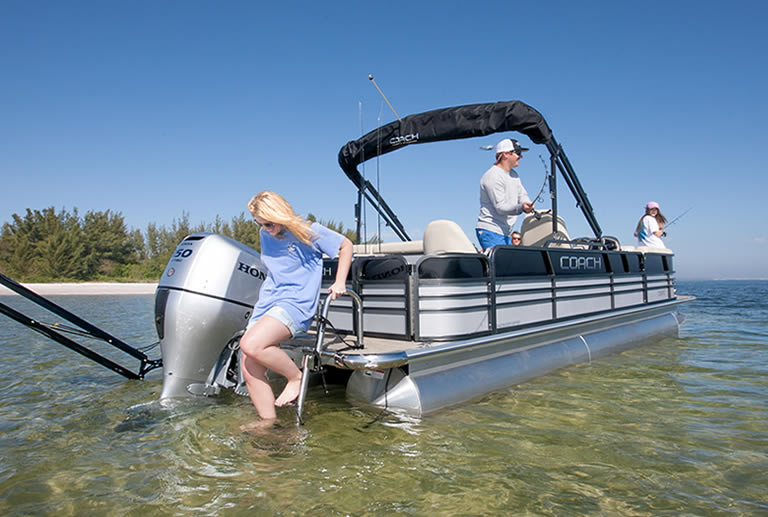 The pontoon is the best shallow water boat