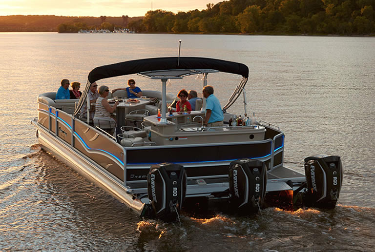 A pontoon boat being the best