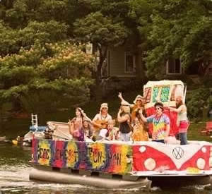 Funky pontoon boat party