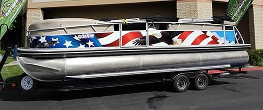 The Great American pontoon boat