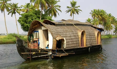 Traditional Indian houseboat in use today